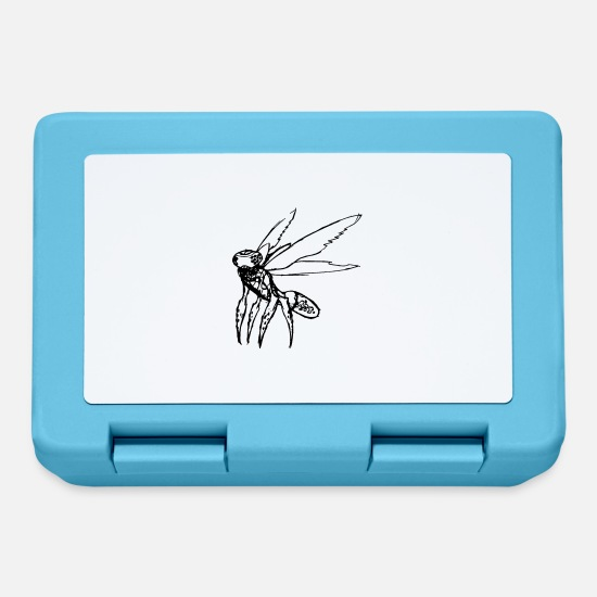 Character Lunchboxes - Creepy insect drawing - Lunchbox sapphire blue