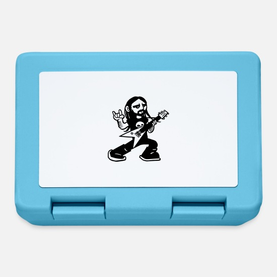 Rock Lunchboxes - metal guitar - Lunchbox sapphire blue