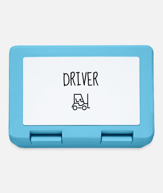 Factory Lunchboxes - Cariste Driver Fahrer Magasinier Usine Factory - Lunchbox sapphire blue