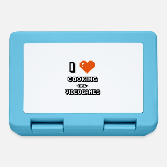 Love Lunchboxes - i love cooking and videogames - Lunchbox sapphire blue