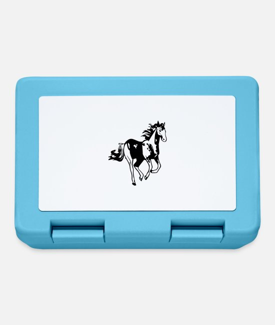 Horse Lunchboxes - horse - Lunchbox sapphire blue