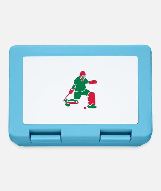 Floor Hockey Lunchboxes - Field hockey goalkeeper - Lunchbox sapphire blue