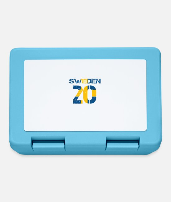 Proud Lunchboxes - Football club team emm SWEDEN 20 - Lunchbox sapphire blue
