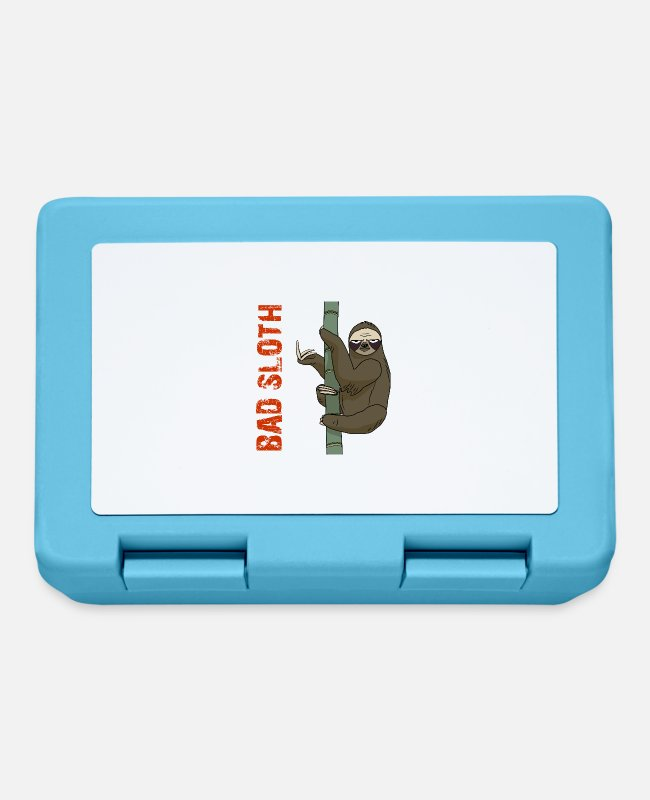 Nature Lunchboxes - Bad Sloth - Lunchbox sapphire blue