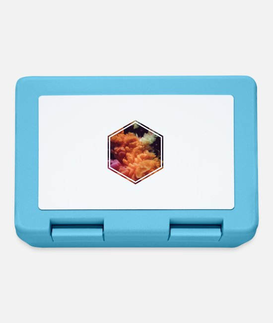 Art Lunchboxes - abstract Smoke - Lunchbox sapphire blue