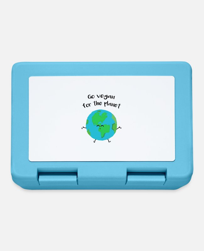 "Nature Lunchboxes - Vegan for the planet - ""Vegan for the planet"" - Lunchbox sapphire blue"