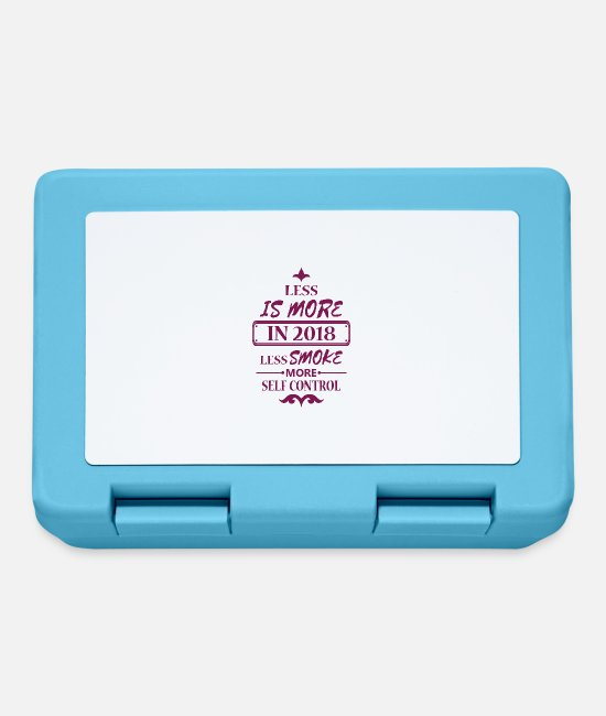 Year Lunchboxes - Good Resolution 2018 Gift Smoke Stop smoking - Lunchbox sapphire blue