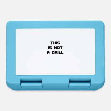 Drill This Is Not A Drill - Lunchbox