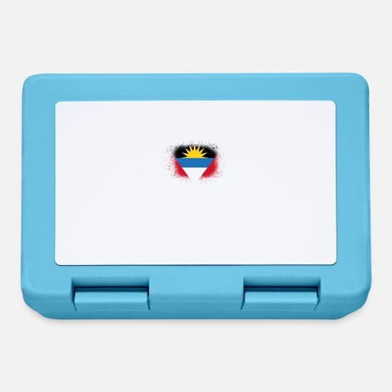 Birthday Lunchboxes - Spray logo claw flag home Antigua Barbuda png - Lunchbox sapphire blue