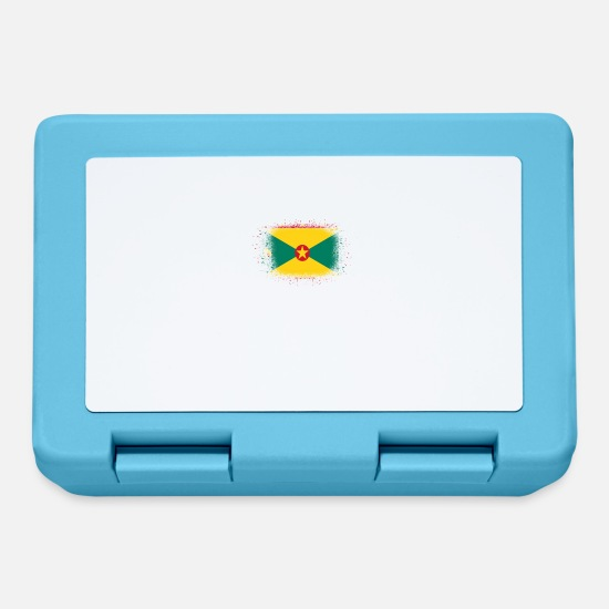 Birthday Lunchboxes - Spray logo claw flag home Grenada png - Lunchbox sapphire blue