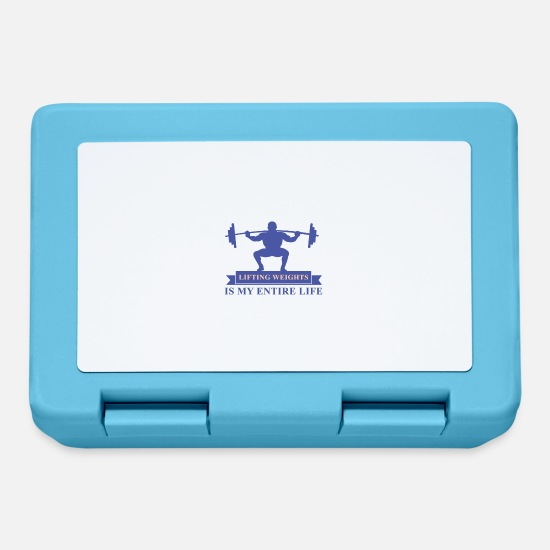 Weightlifting Lunchboxes - LIFTING WEIGHTS IS MY ENTIRE LIFE GIFT - Lunchbox sapphire blue