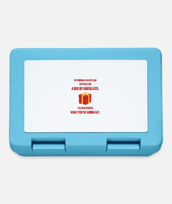 Christmas Carols Lunchboxes - MY MOMMA SAID LIFE WHAT LIKE A BOX OF CHOCOLATES - Lunchbox sapphire blue