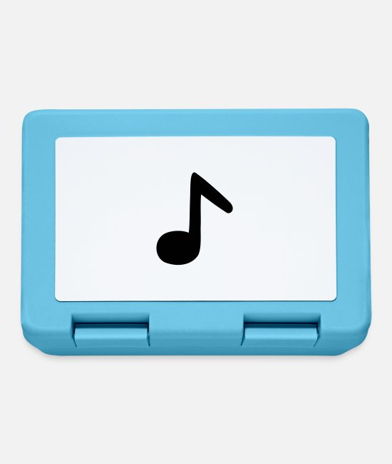 Guitar Lunchboxes - eighth note - Lunchbox sapphire blue