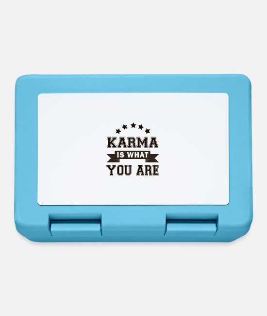 Karma Lunchboxes - Karma Challenge! Karma is what you are! - Lunchbox sapphire blue