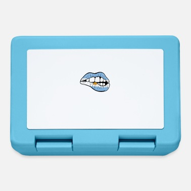 Argentina lips football gift - Lunchbox