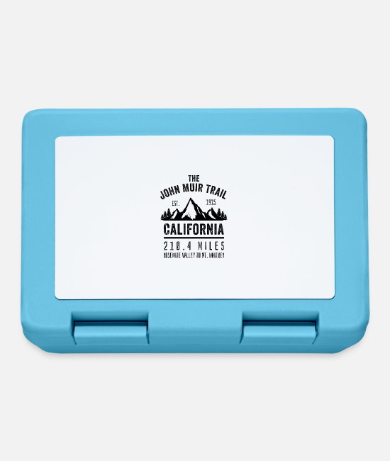 John Muir Trail Lunchboxes - The John Muir Trail JMT - Lunchbox sapphire blue