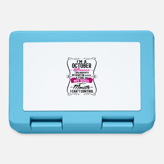 Queen Lunchboxes - OCTOBER WOMAN - Lunchbox sapphire blue