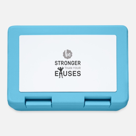 Ziel Lunchboxes - be stronger than your exuses - Lunchbox sapphire blue