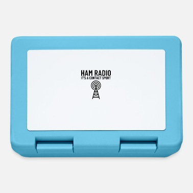 Radio Ham Radio Humor - Het is een CONTACT-sport - Broodtrommel
