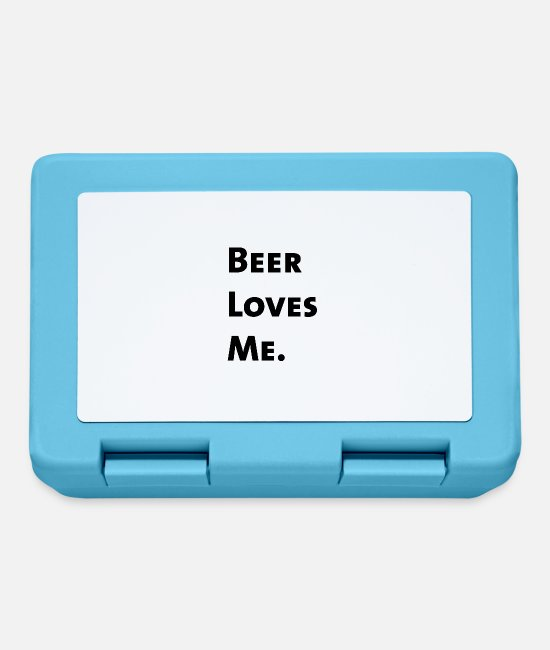 St Patricks Day Lunchboxes - Beer Loves Me. - Lunchbox sapphire blue