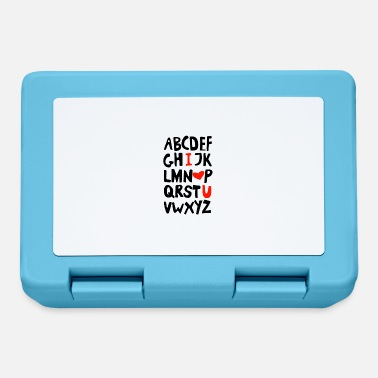 Love You I love you - I love you - Alphabet - ABC - Lunchbox