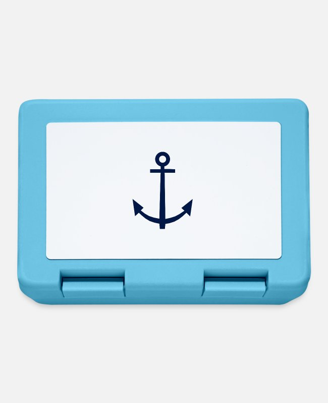 Water Lunchboxes - anchor - Lunchbox sapphire blue