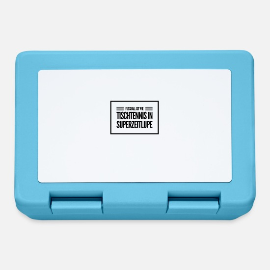 Sports Lunchboxes - Football is like table tennis in super slow motion - Lunchbox sapphire blue