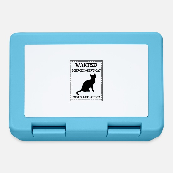 Geek Lunch boxes - Wanted Schrödinger's Cat - Dead And Alive - Lunch box blu zaffiro