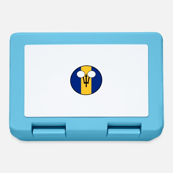 Barbados Lunchboxes - Countryball Country Ball Country Home Barbados - Lunchbox sapphire blue