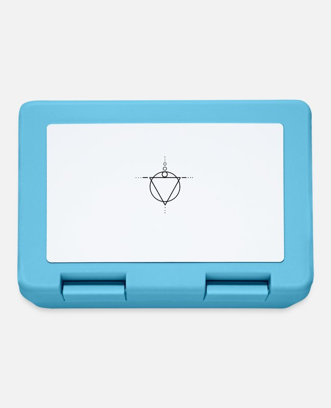 Artsy Lunchboxes - Abstract triangle shapes - Lunchbox sapphire blue