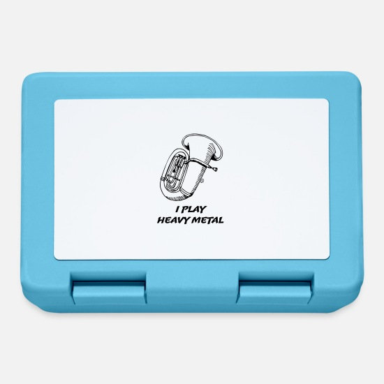Brass Band Lunchboxes - I Play Heavy Metal - Lunchbox sapphire blue