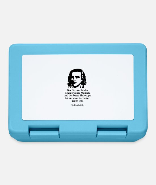 Germania Lunchboxes - Schiller: The poet is the only true masculine - Lunchbox sapphire blue