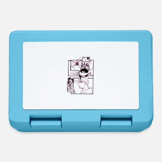 Anime Lunchboxes - Manga Comic Strip - Lunchbox sapphire blue