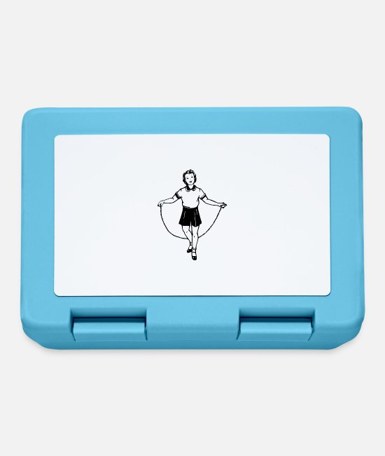 Pole Vault Lunchboxes - jumping jump rope skipping - Lunchbox sapphire blue