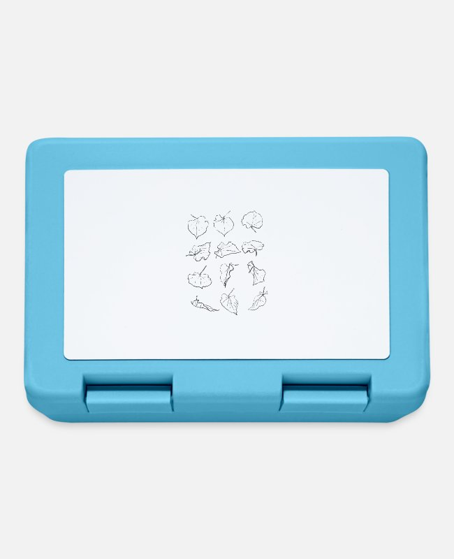 Drawing Lunchboxes - leaves - Lunchbox sapphire blue