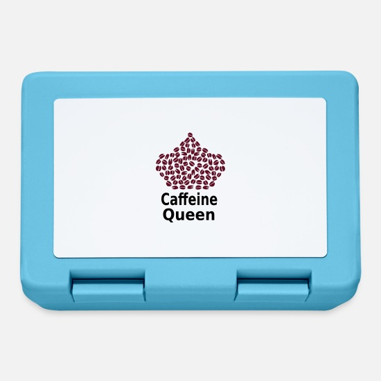 Love Coffee Lunchboxes - Caffeine Queen T-Shirt - Coffee Lover T-Shirt - Lunchbox sapphire blue