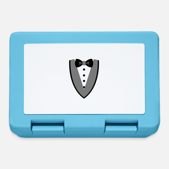 Tuxedo Lunchboxes - [Custom Colors] SMOKING-TUXEDO-SUIT-COSTUME / N ° 1 - Lunchbox sapphire blue