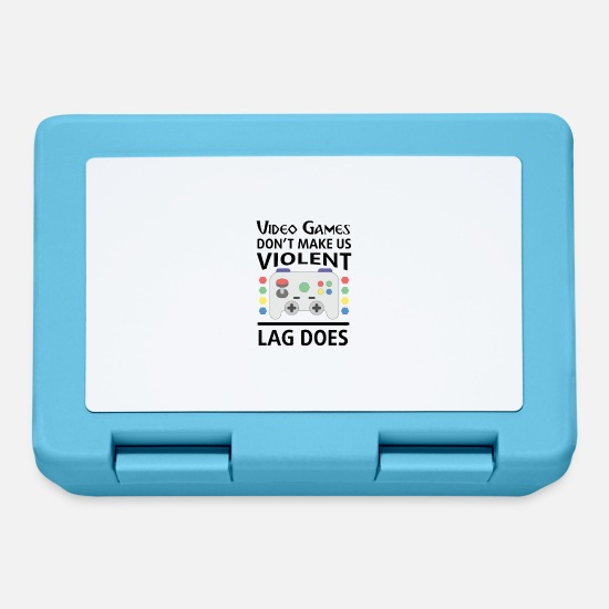 Game Lunchboxes - I Love Video Games - Lunchbox sapphire blue