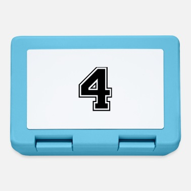Four 4, Four, Four, number, number - Lunchbox