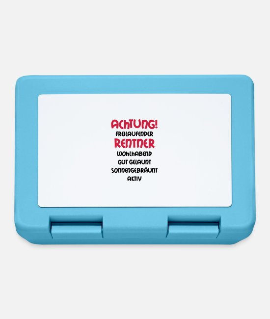 Grandad Lunchboxes - Warning freewheeling retirees, wealthy, well- - Lunchbox sapphire blue