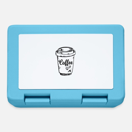 Love Lunchboxes - Coffee To Go In Paper Cup - Lunchbox sapphire blue