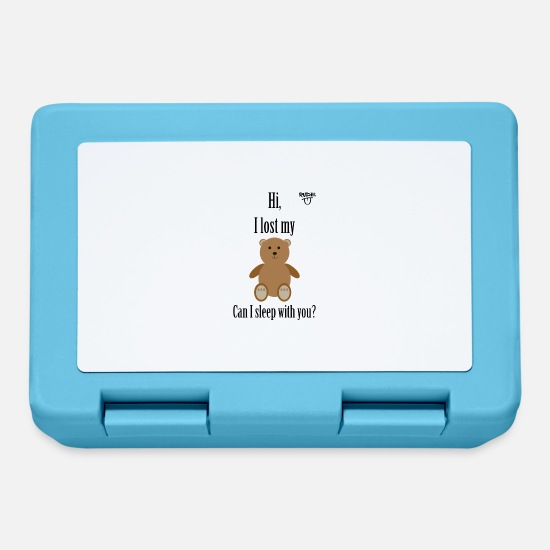 New Lunchboxes - Teddy Pickup Line - Lunchbox sapphire blue