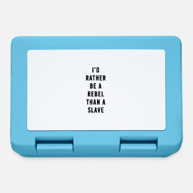 Slave Female I'd Rather Be a Rebel Than A Slave - Lunchbox