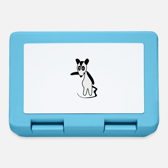 Stench Lunchboxes - skunk skunk baby6 - Lunchbox sapphire blue
