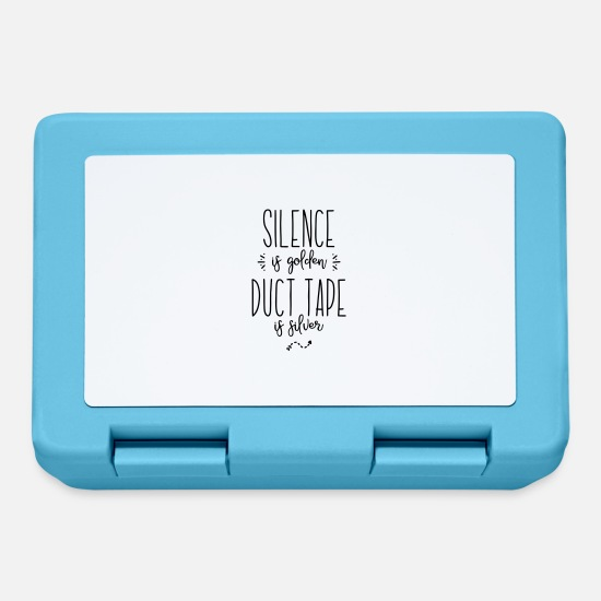 Silver Lunchboxes - silence duct tape - Lunchbox sapphire blue