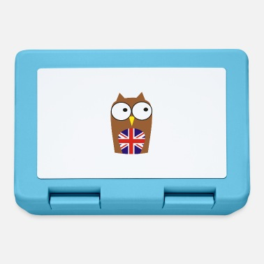 Gb whoo are you - new! Owl & Union Jack - Lunchbox