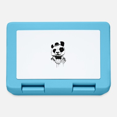 Panda - come un signore - arte di strada - Lunch box