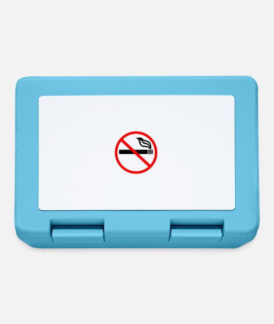 Smoking Ban Lunchboxes - NO SMOKING - Lunchbox sapphire blue