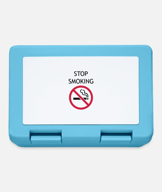 Cigarette Lunchboxes - stopsmoking - Lunchbox sapphire blue