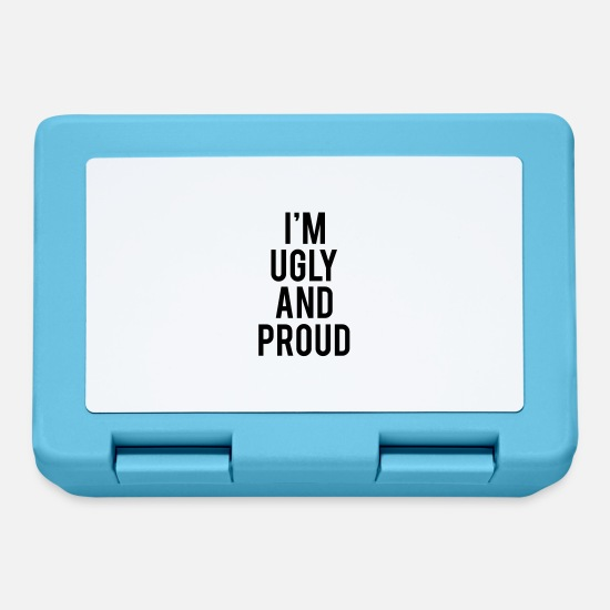Proud Military Wife Lunchboxes - I'm Ugly And Proud - Lunchbox sapphire blue